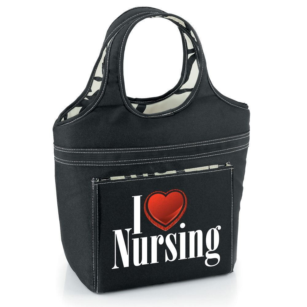 I Love Nursing Swirl Lunch Bag