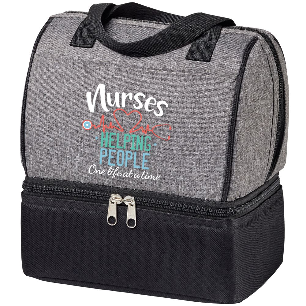 Nurses: Helping People One Life At A Time Riverton Lunch/Cooler Bag