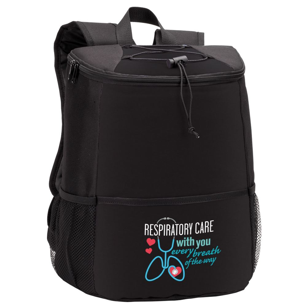 Respiratory Care: With You Every Breath Of The Way Hemingway Backpack Cooler