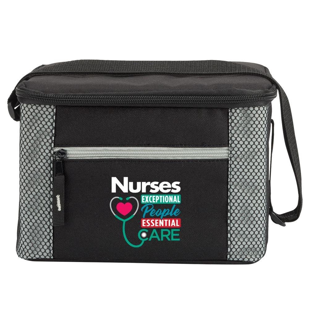 Nurses: Nurses Exceptional People, Essential Care Gray Atlantic Lunch/Cooler Bag