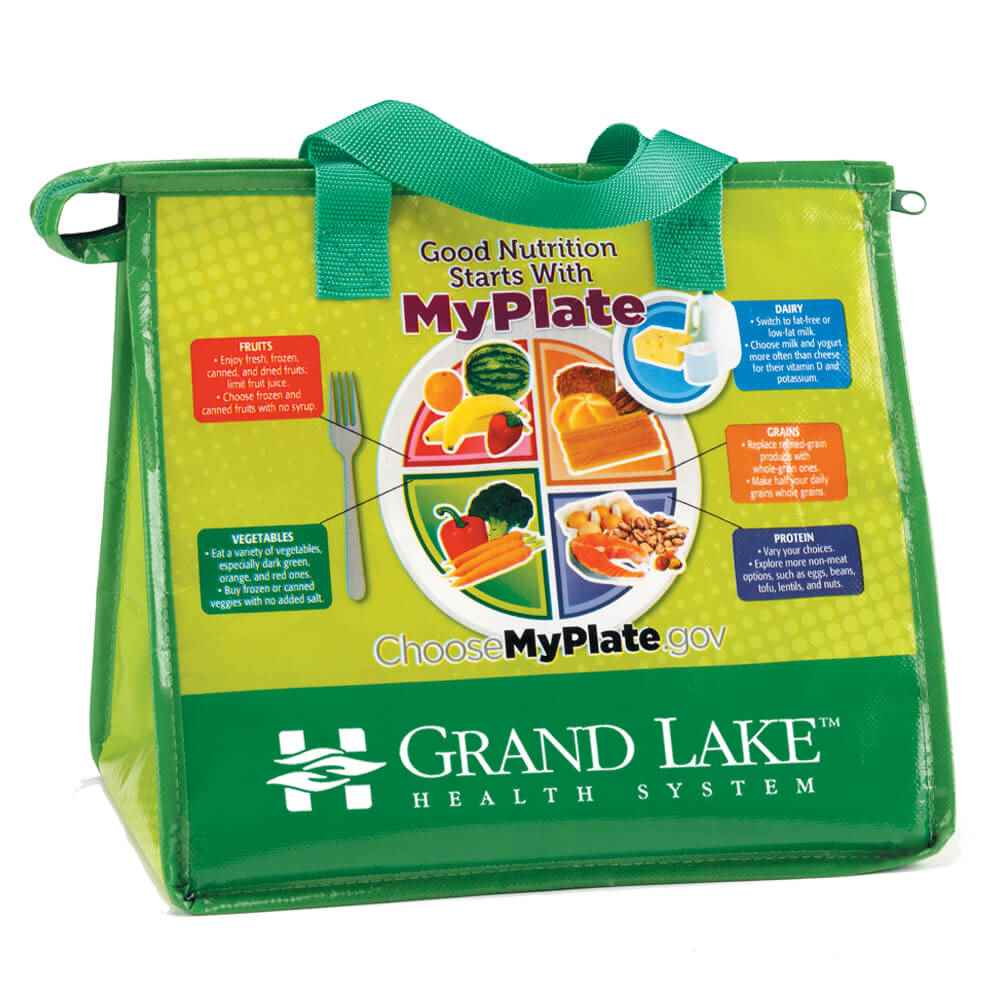 My Plate Eco-Friendly Laminated Insulated Lunch Bag - Personalization Available