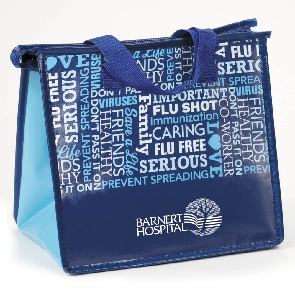 Flu & Cold Prevention Eco-Friendly Laminated Insulated Lunch Bag - Personalization Available