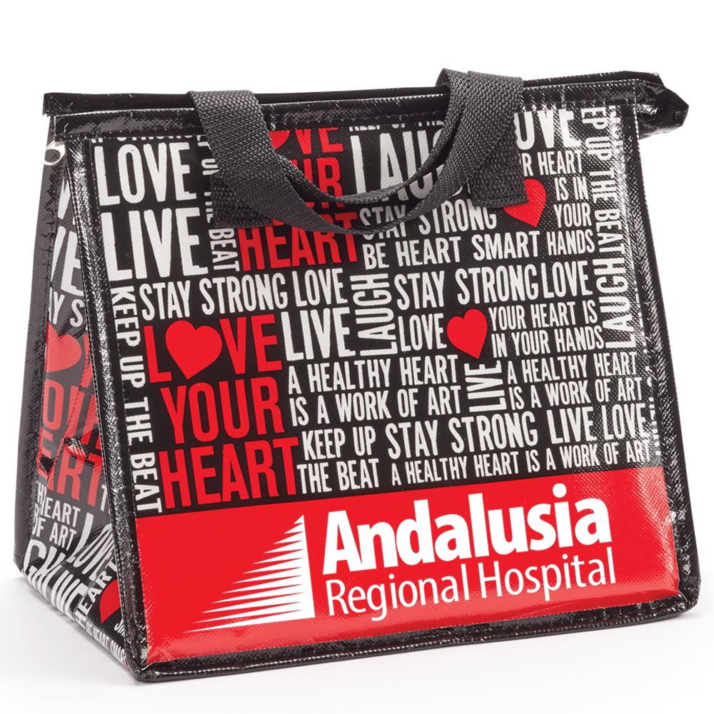 Love Your Heart Laminated Insulated Lunch Bag - Personalization Available