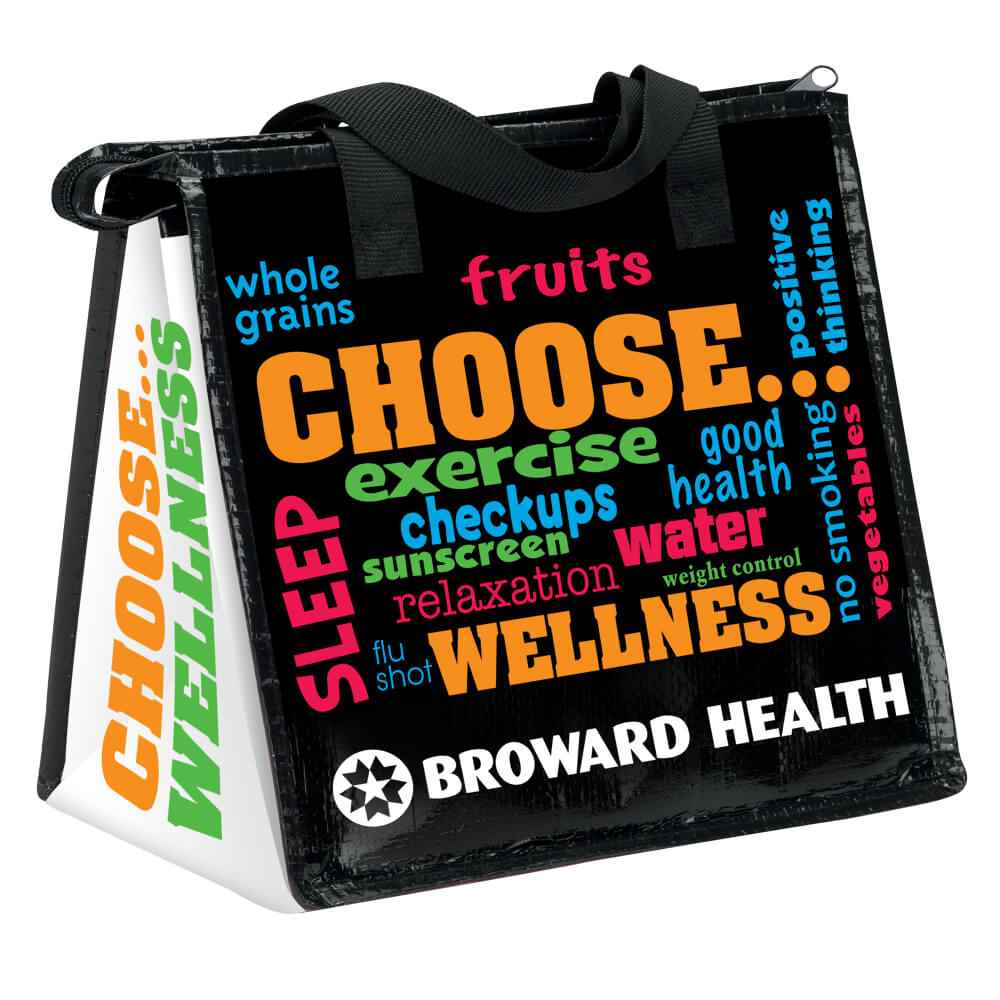 Choose Wellness Eco-Friendly Laminated Insulated Lunch Bag - Personalization Available