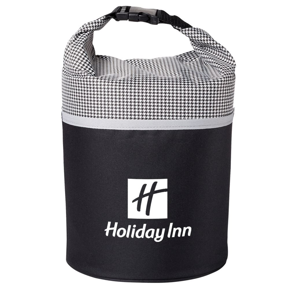 Houndstooth/Black Bellmore Cooler Lunch Bag - Personalization Available