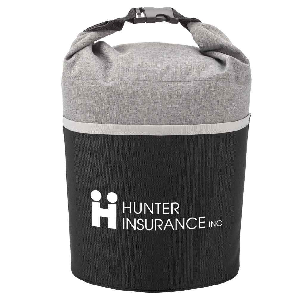 Gray/Black Bellmore Cooler Lunch Bag - Personalization Available