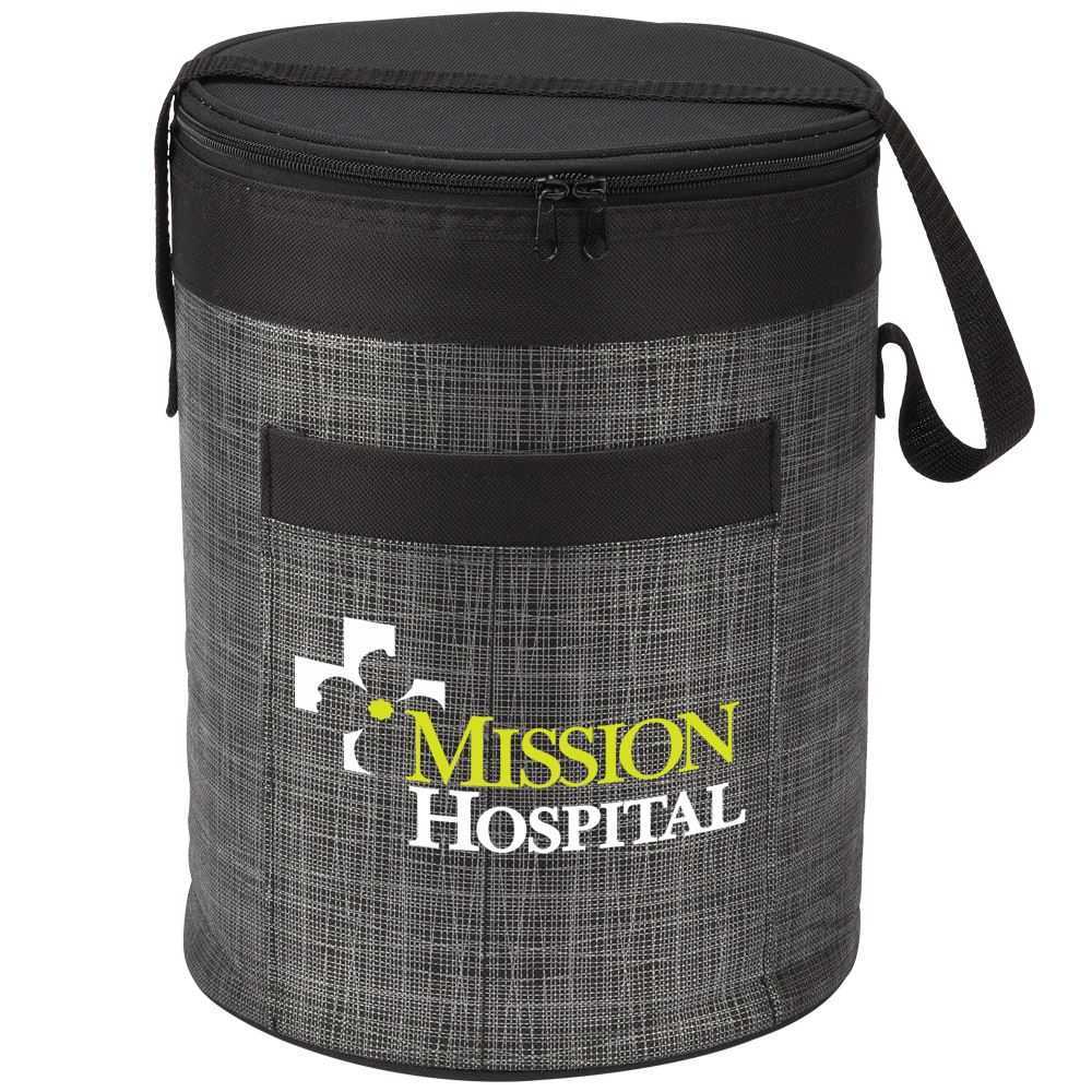 Blue Brookville Barrel Cooler Bag - Full Color Personalization Available