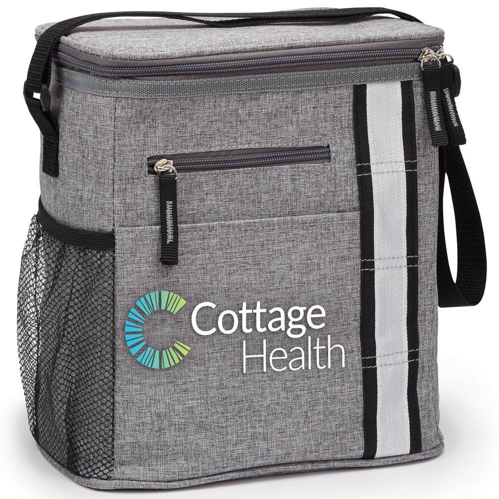 Gray Westbrook Lunch/Cooler Bag - Full Color Personalization Available