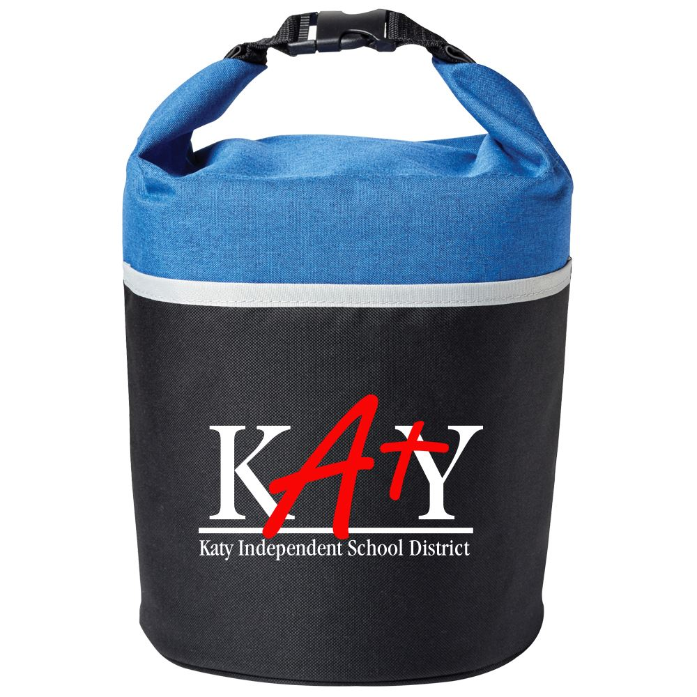 Blue/Black Bellmore Cooler Lunch Bag - Full Color Personalization Available