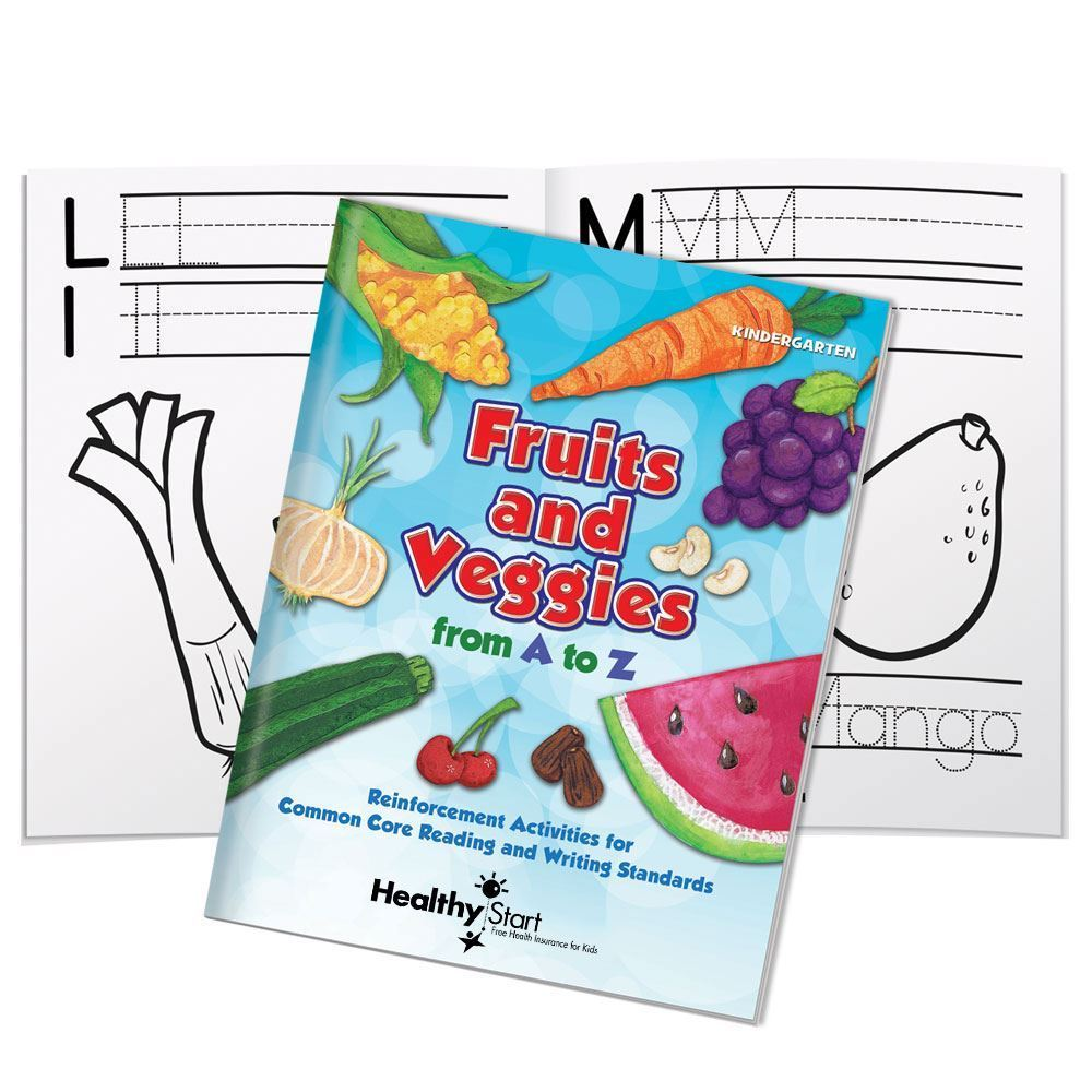 Fruits & Veggies From A to Z Activities Book - Personalization Available