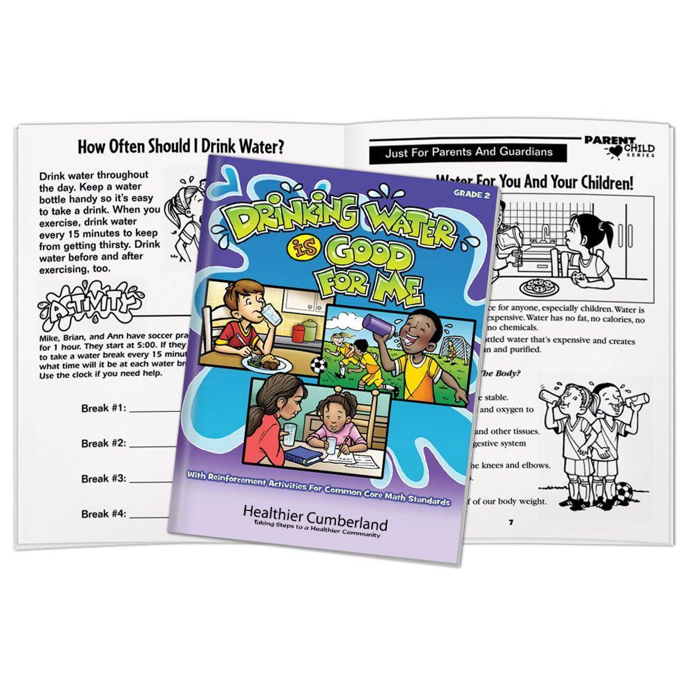 Drinking Water Is Good For Me Common Core Educational Activities Book - Personalization Available