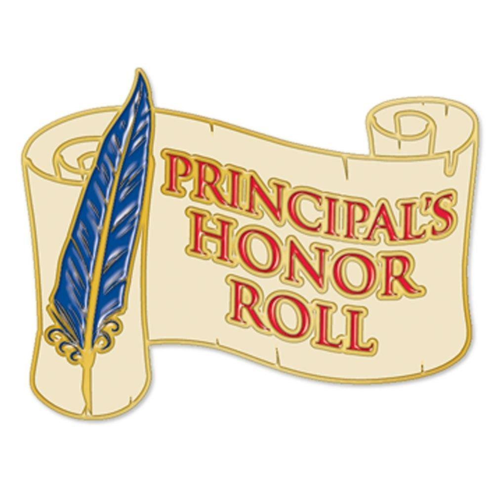 Principal's Honor Roll Scribe Design Lapel Pin
