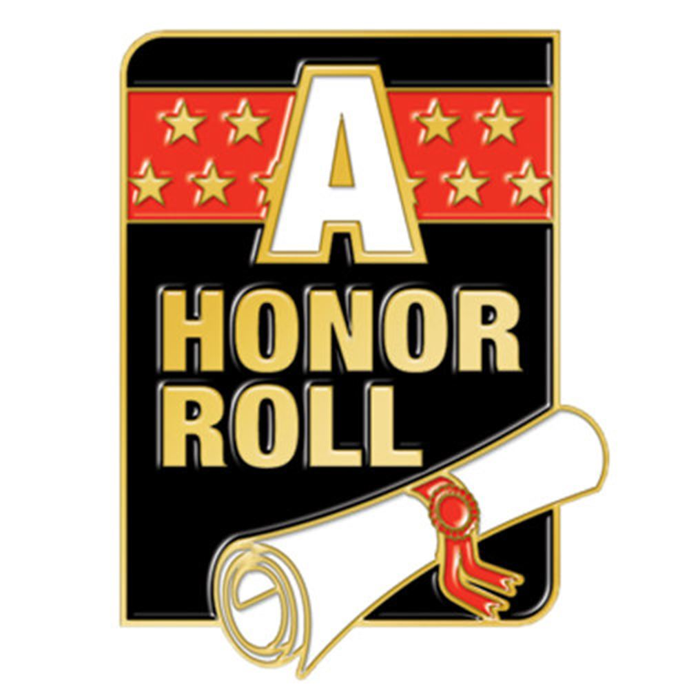 """A"" Honor Roll Square Lapel Pin"