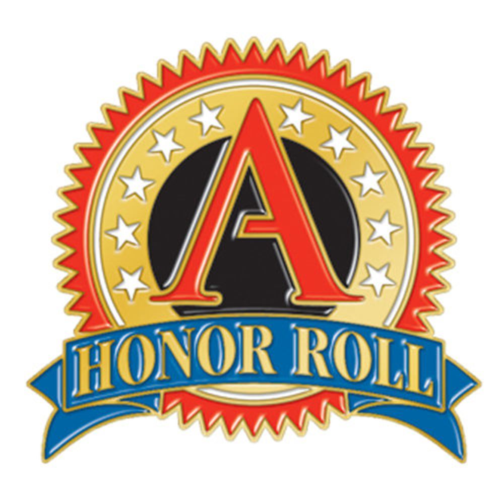 """A"" Honor Roll Round Lapel Pin"