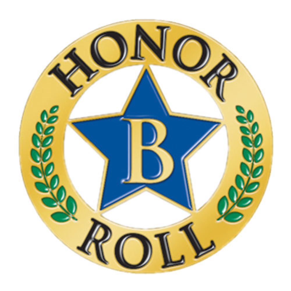 B Honor Roll Star Lapel Pin