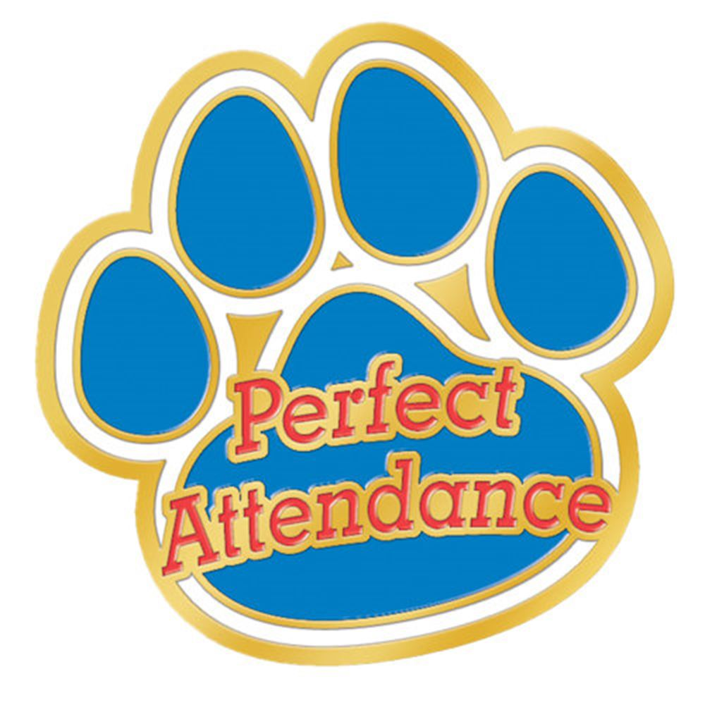 Perfect Attendance Paw Lapel Pin