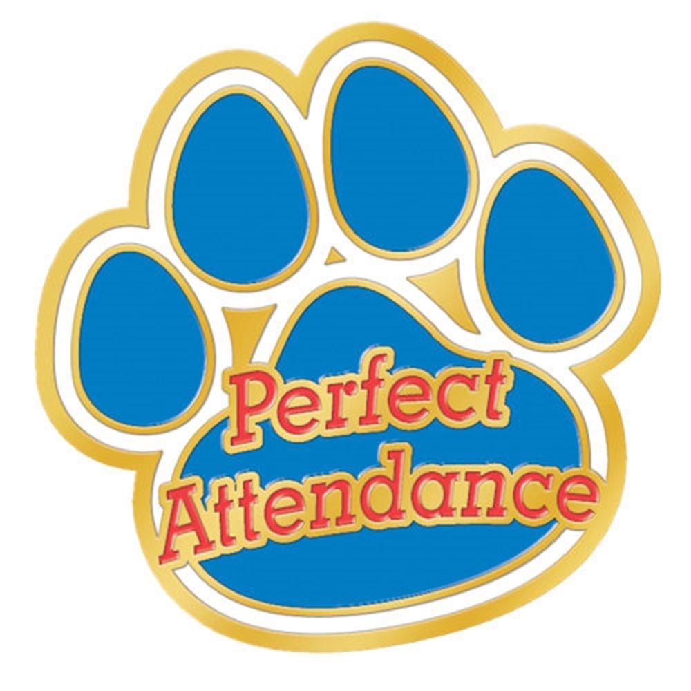 Perfect Attendance Paw Lapel Pin