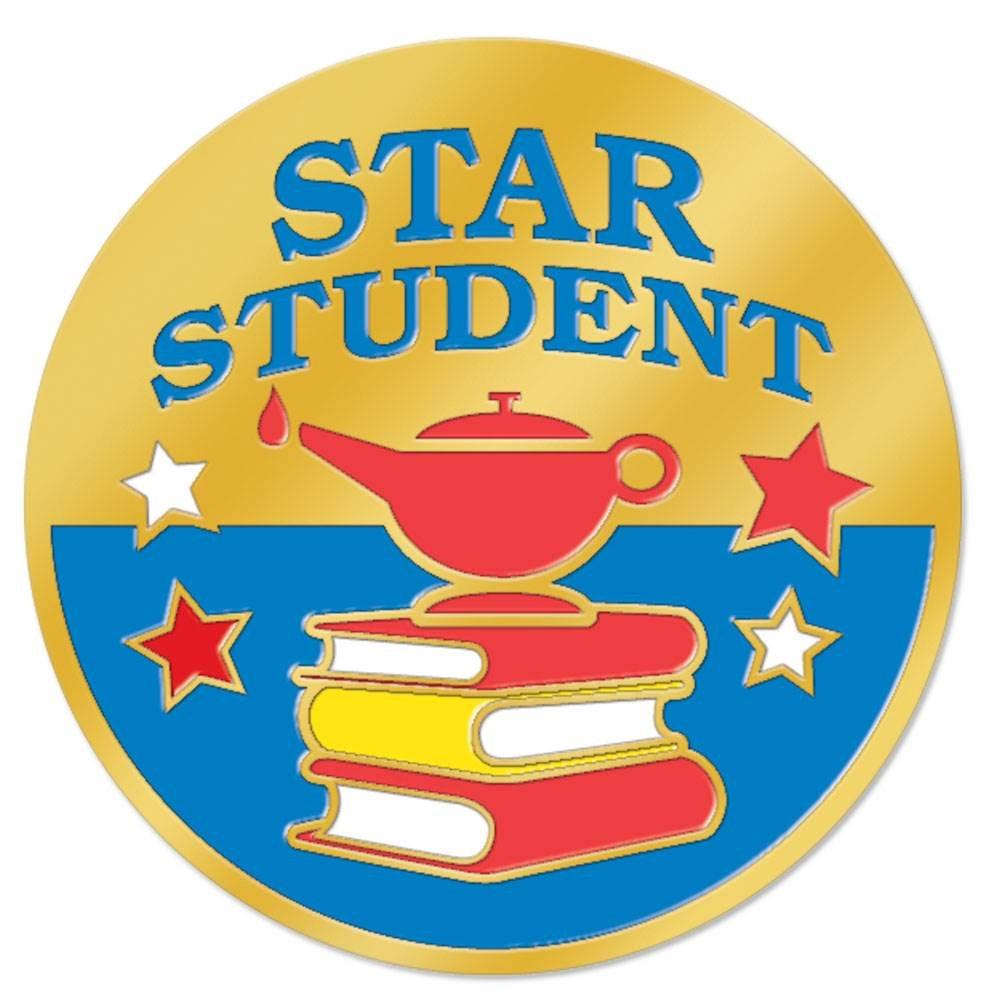 Star Student Lamp Design Lapel Pin