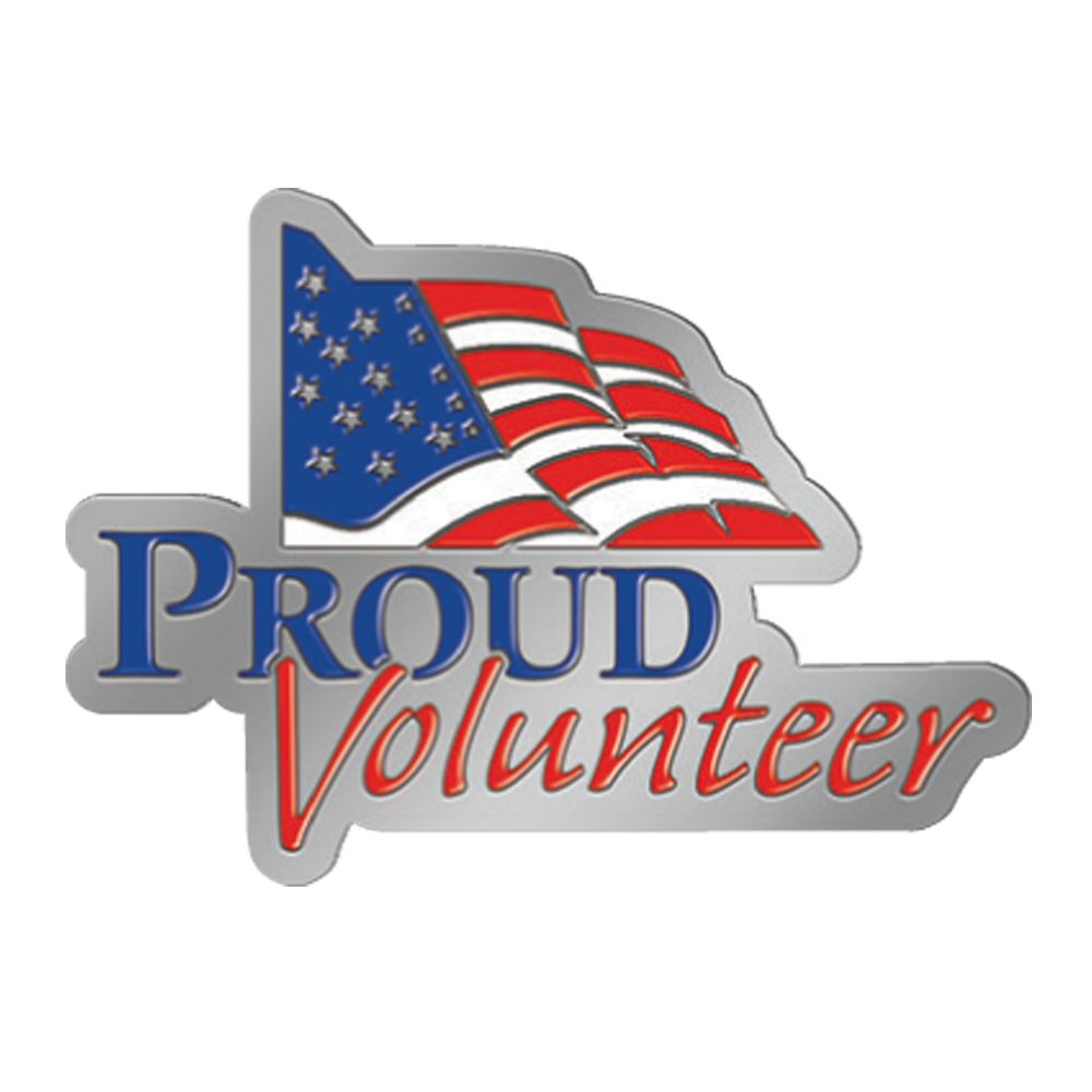 Proud Volunteer Lapel Pin With Presentation Card