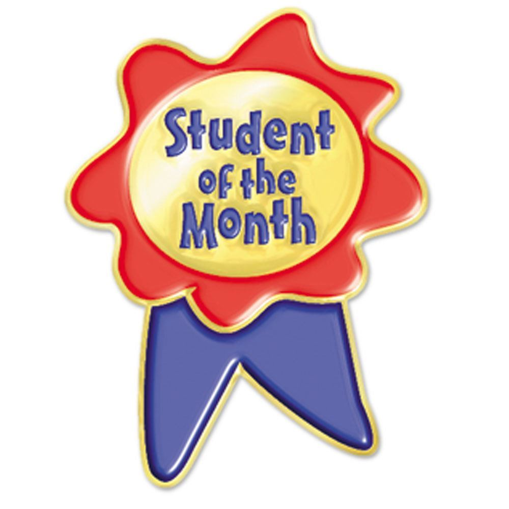 student of the month ribbon design lapel pin positive promotions