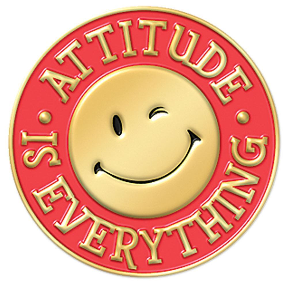 Attitude Is Everything Lapel Pin