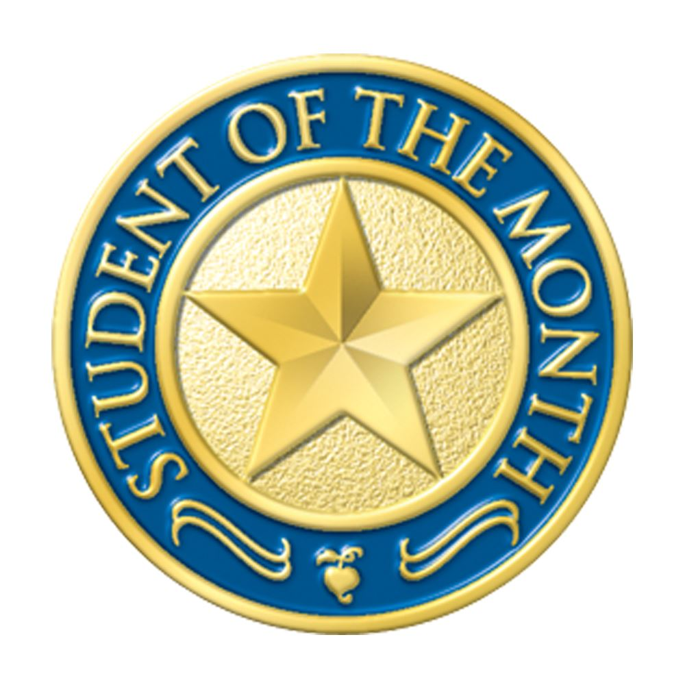 Student Of The Month Round Lapel Pin