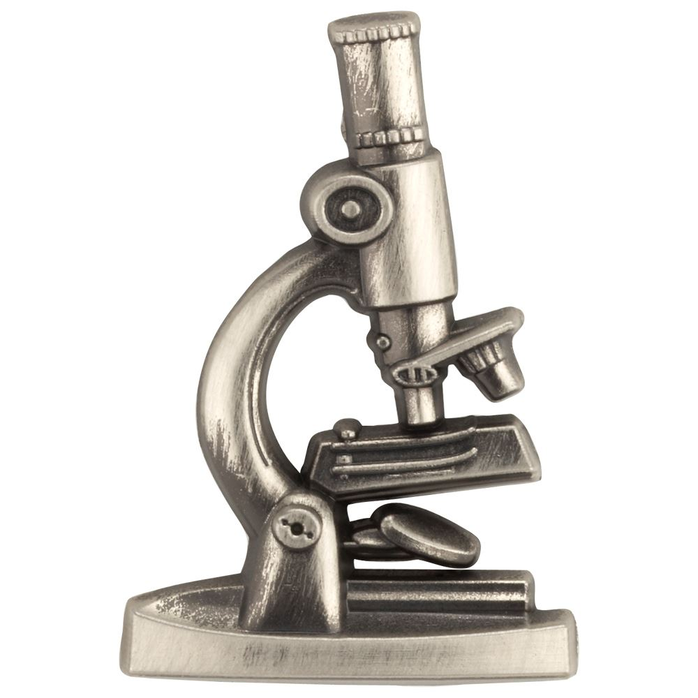 3-D Microscope Lapel Pin With Presentation Card