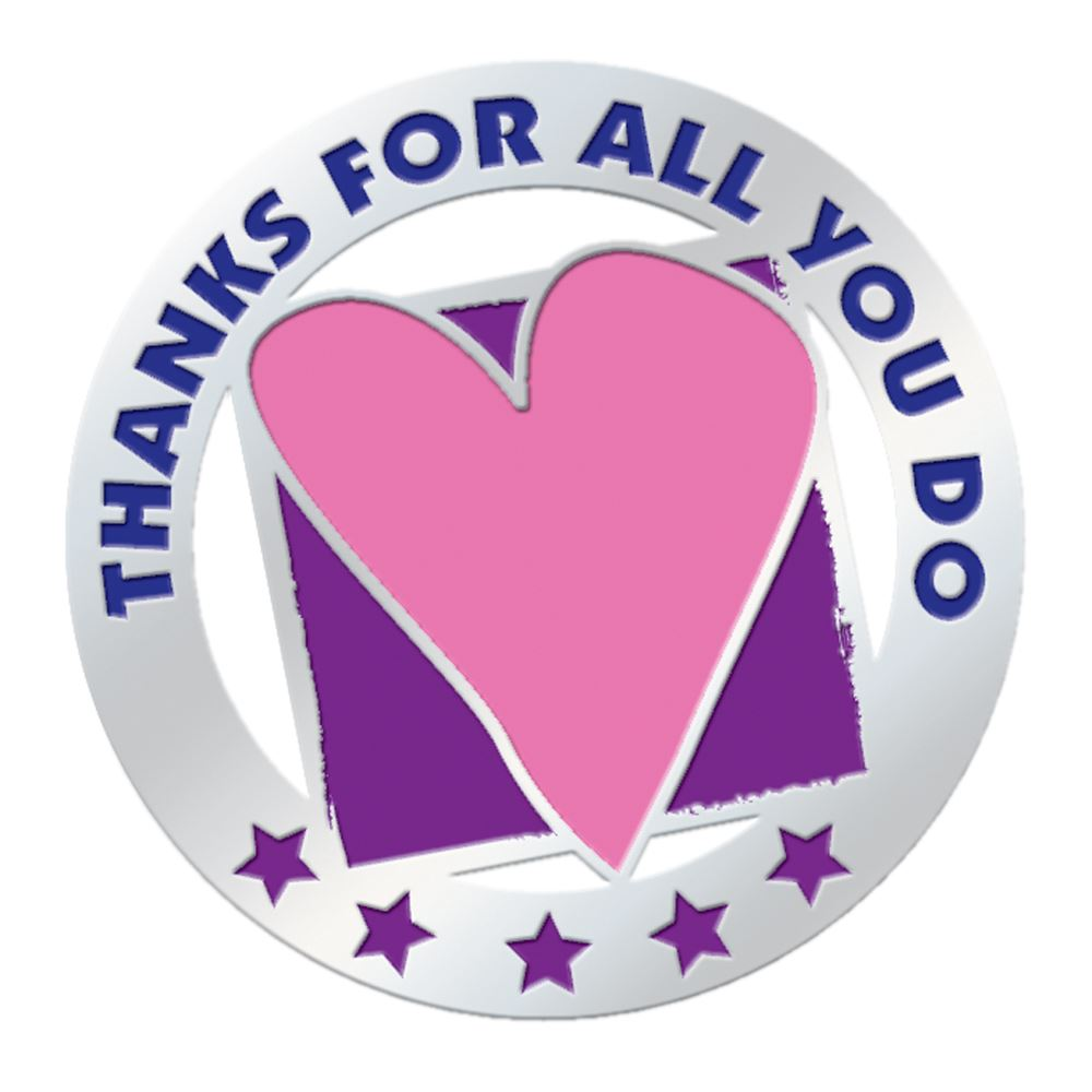 Thanks For All You Do Lapel Pin With Presentation Card