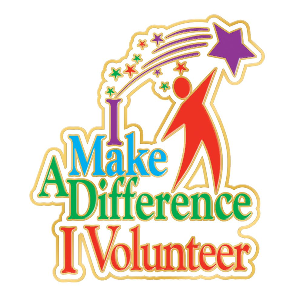 I Make A Difference I Volunteer Lapel Pin With Presentation Card