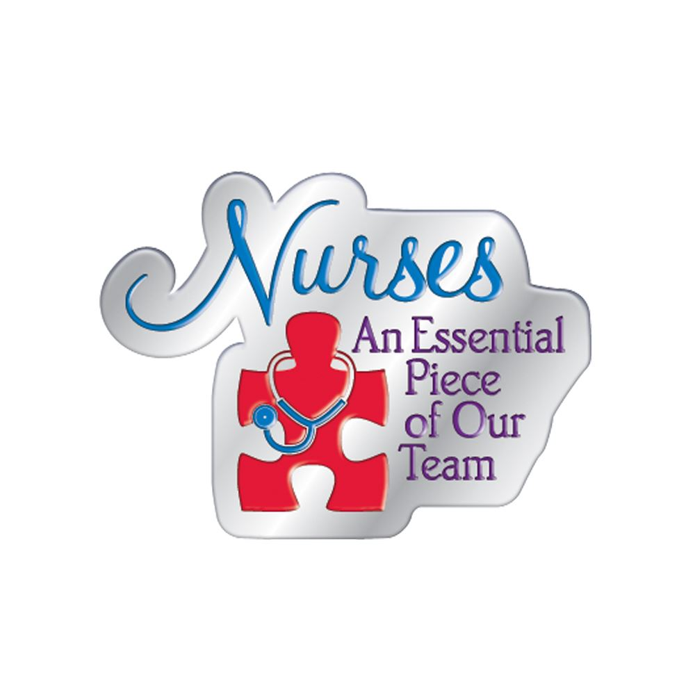 Nurses: An Essential Piece Of Our Team Lapel Pin With Presentation Card