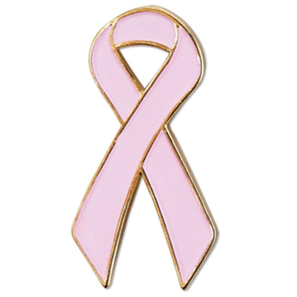 Breast cancer ribbon pin