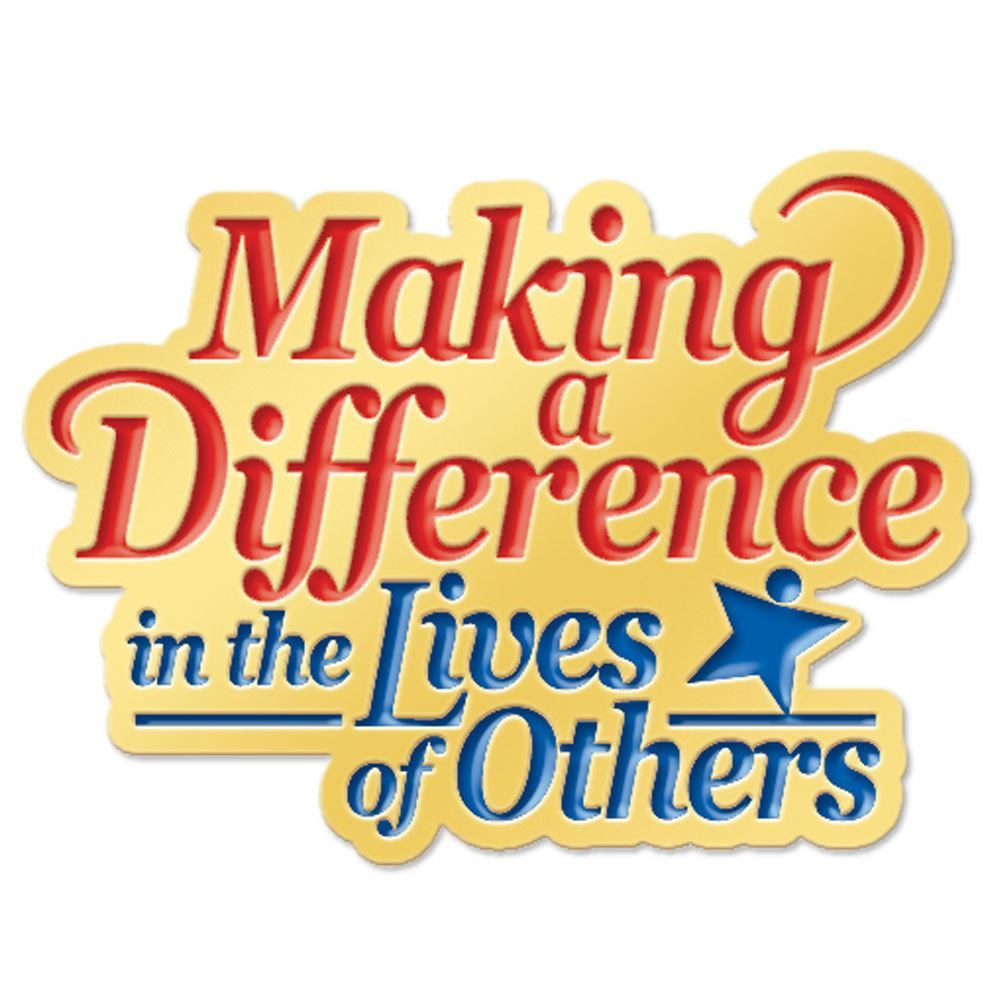 Making A Difference In The Lives Of Others Lapel Pin With ...