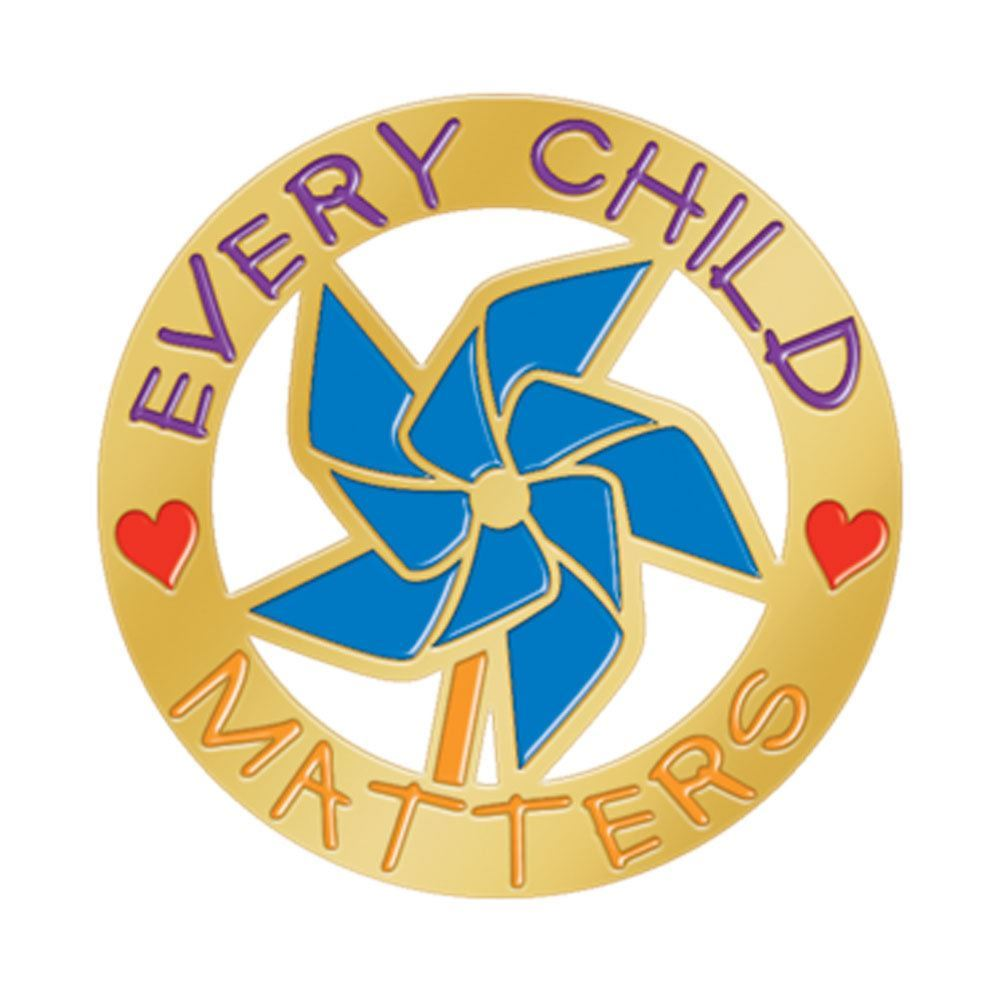 Every Child Matters Pinwheel Lapel Pin With Presentation Card