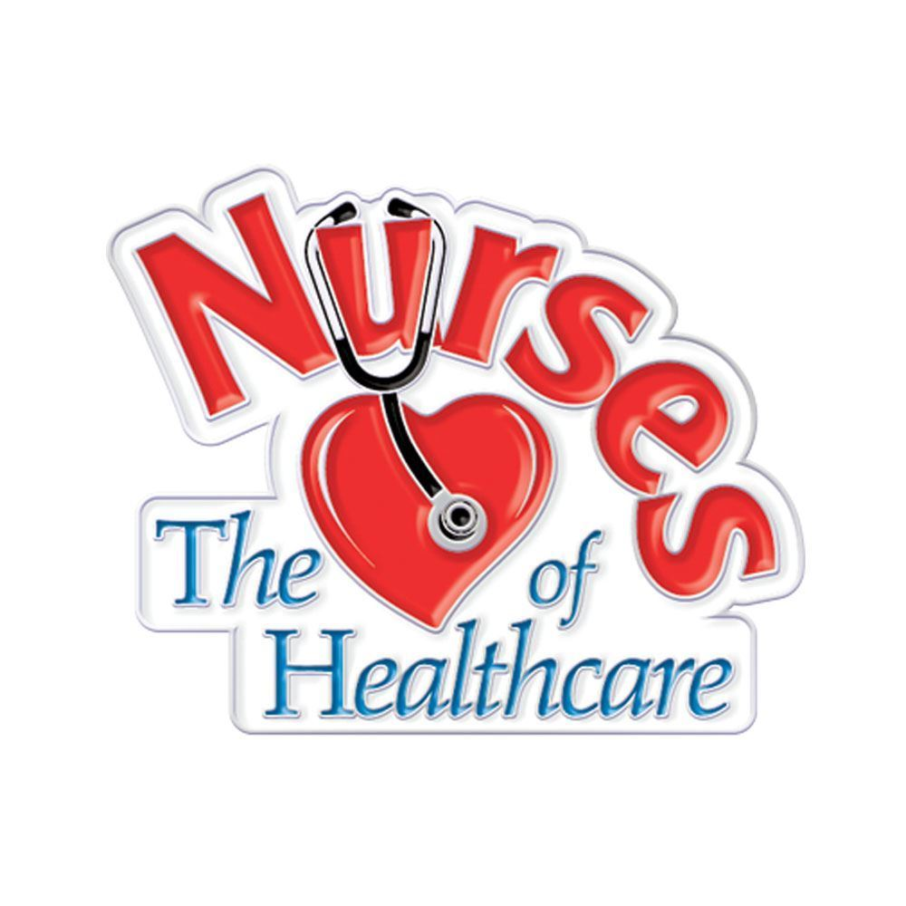 Nurses The Heart Of Healthcare Lapel Pin with Presentation Card