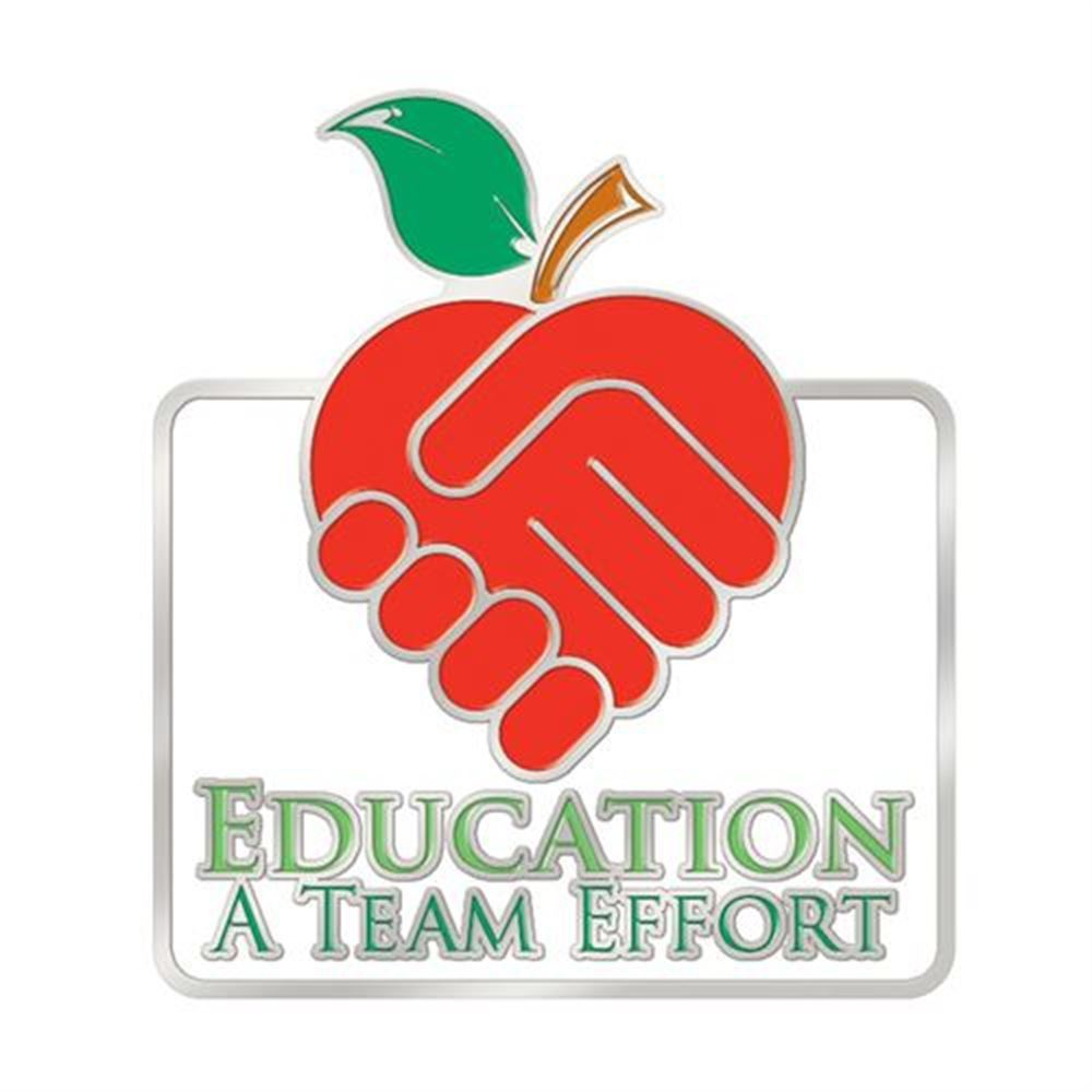 Education: A Team Effort Lapel Pin With Presentation Card