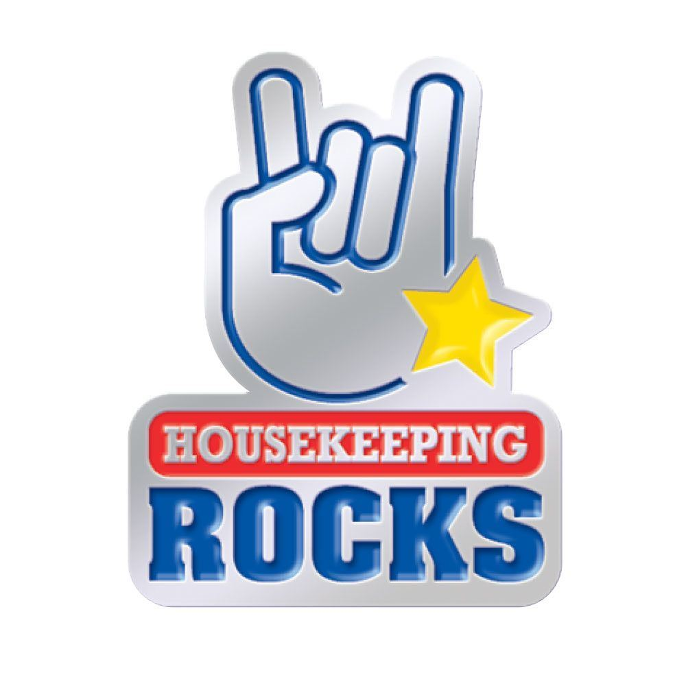 housekeeping rocks lapel pin positive promotions