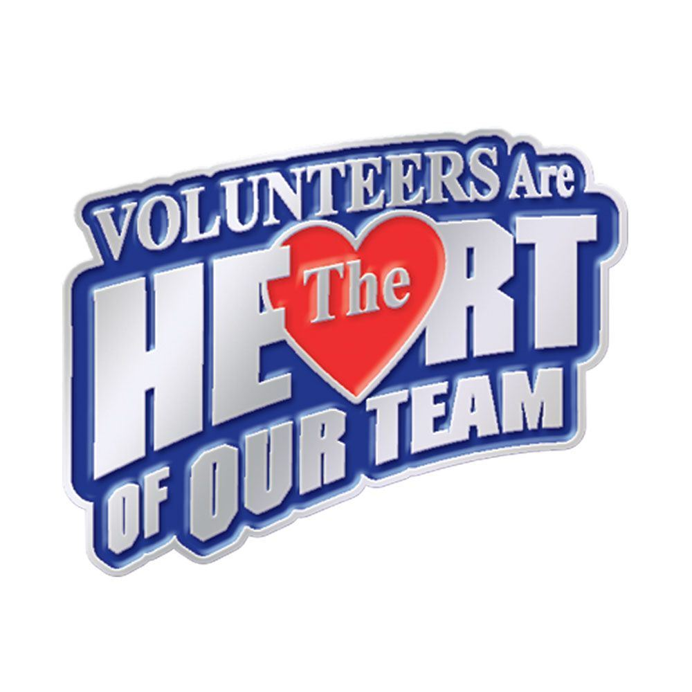 Volunteers Are The Heart Of Our Team Lapel Pin With