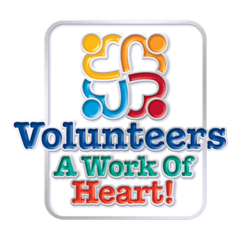 Volunteers: A Work Of Heart! Lapel Pin With Presentation Card