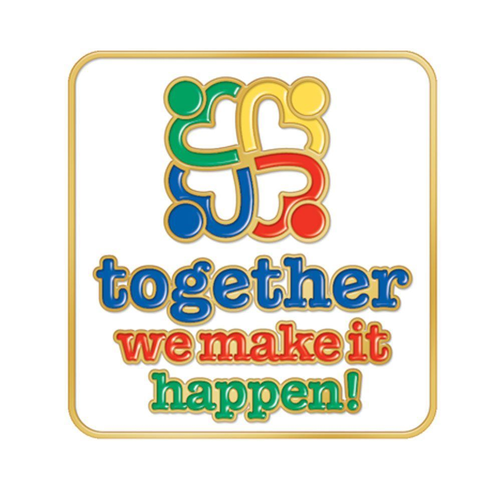 Together We Make It Happen Lapel Pin With Presentation ...