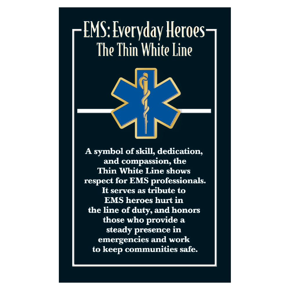 EMS Star of Life Lapel Pin With Presentation Card