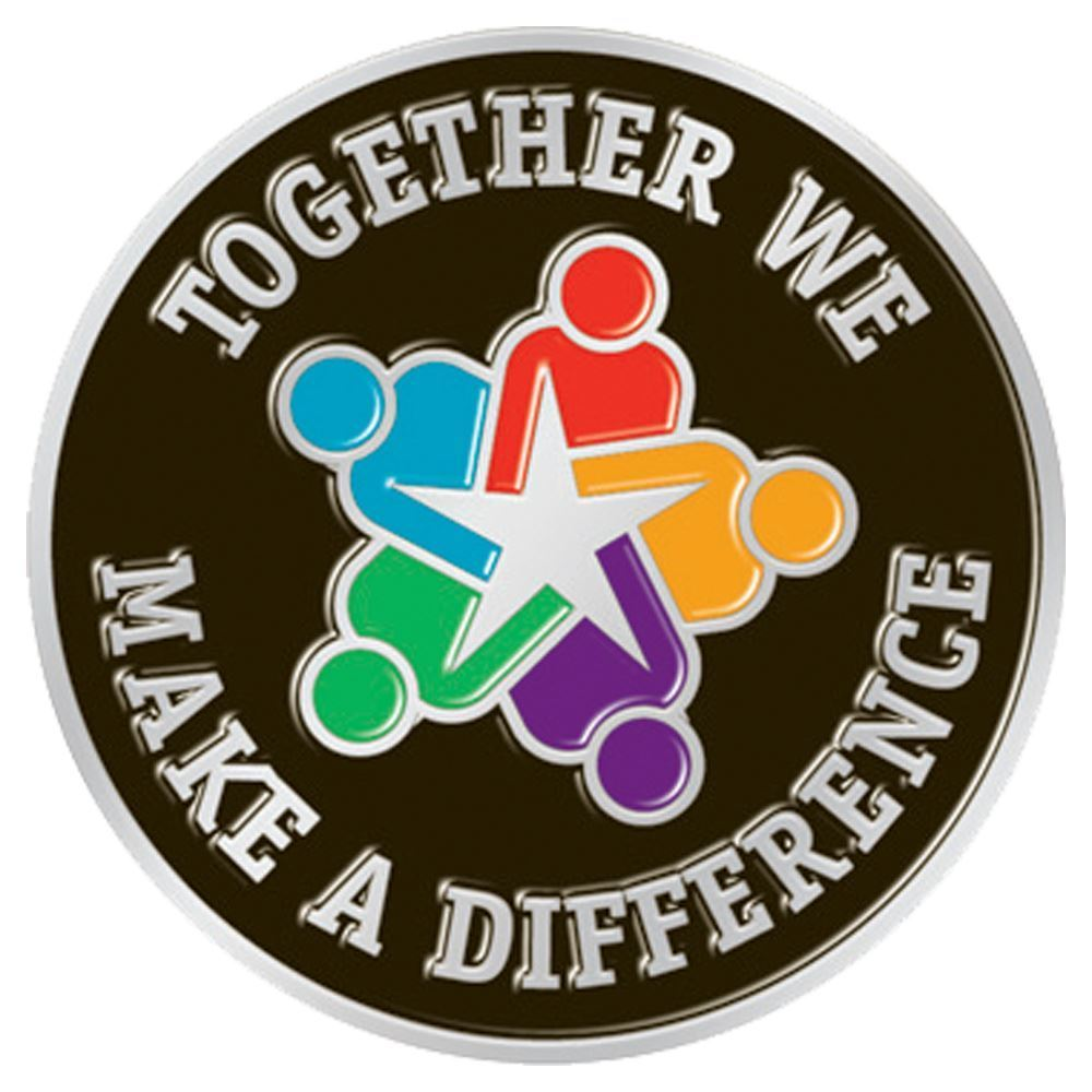 Together We Make A Difference Lapel Pin With Presentation Card