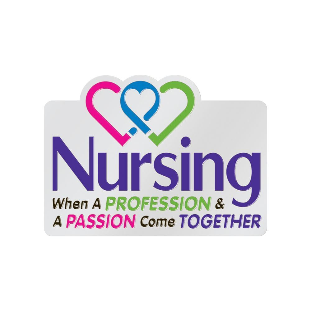 Nursing When A Profession Passion Come Together Lapel Pin With Presentation Card