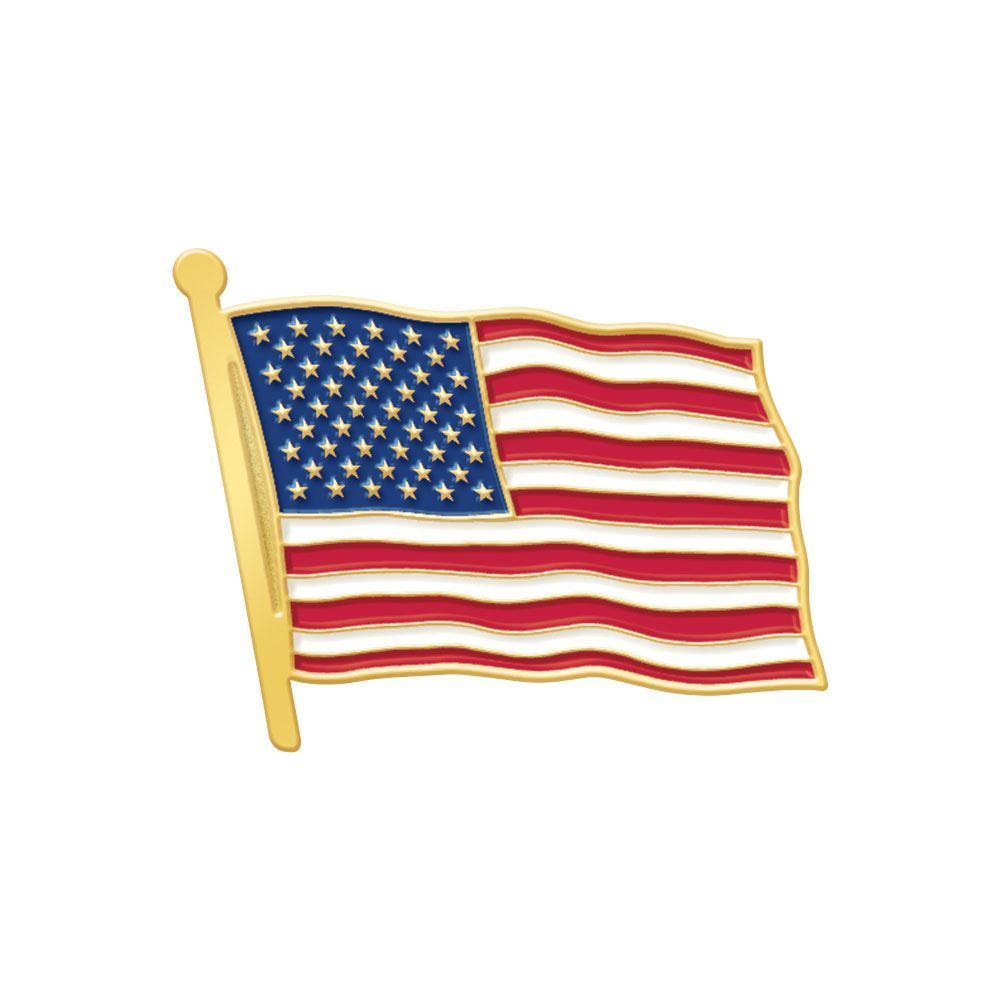 american flag lapel pin with presentation card positive promotions