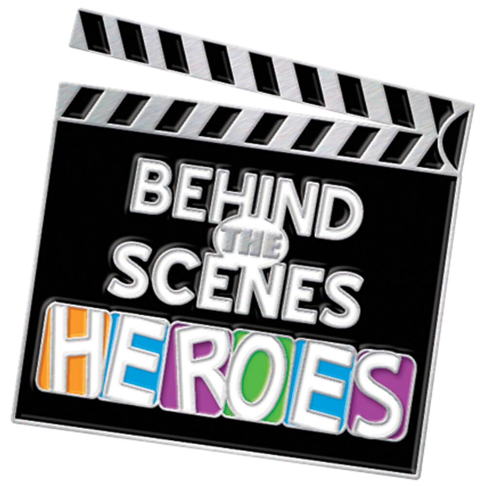 Behind The Scenes Heroes Lapel Pin With Presentation Card