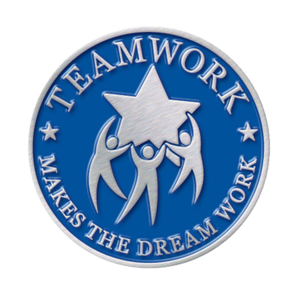 Motivational Quotes For Sports Teams: Teamwork Makes The Dream Work Lapel Pin With Presentation