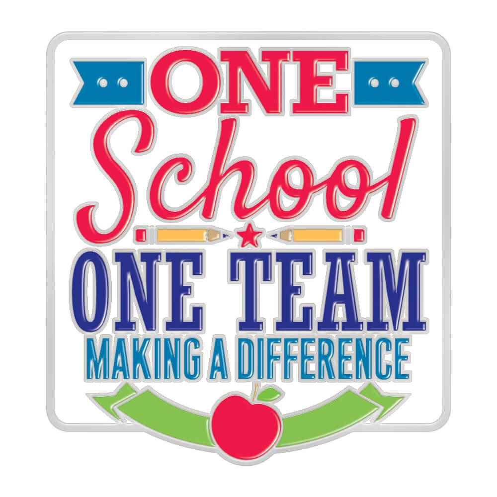 One School, One Team: Making A Difference Lapel Pin With Presentation Card