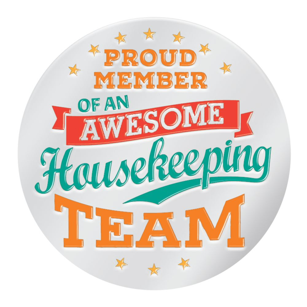 Proud Member Of An Awesome Housekeeping Team Lapel Pin With Presentation Card