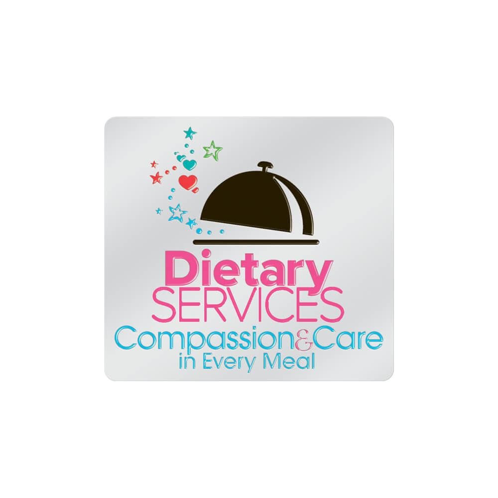 Dietary Services: Compassion & Care In Every Meal Lapel Pin With Presentation Card