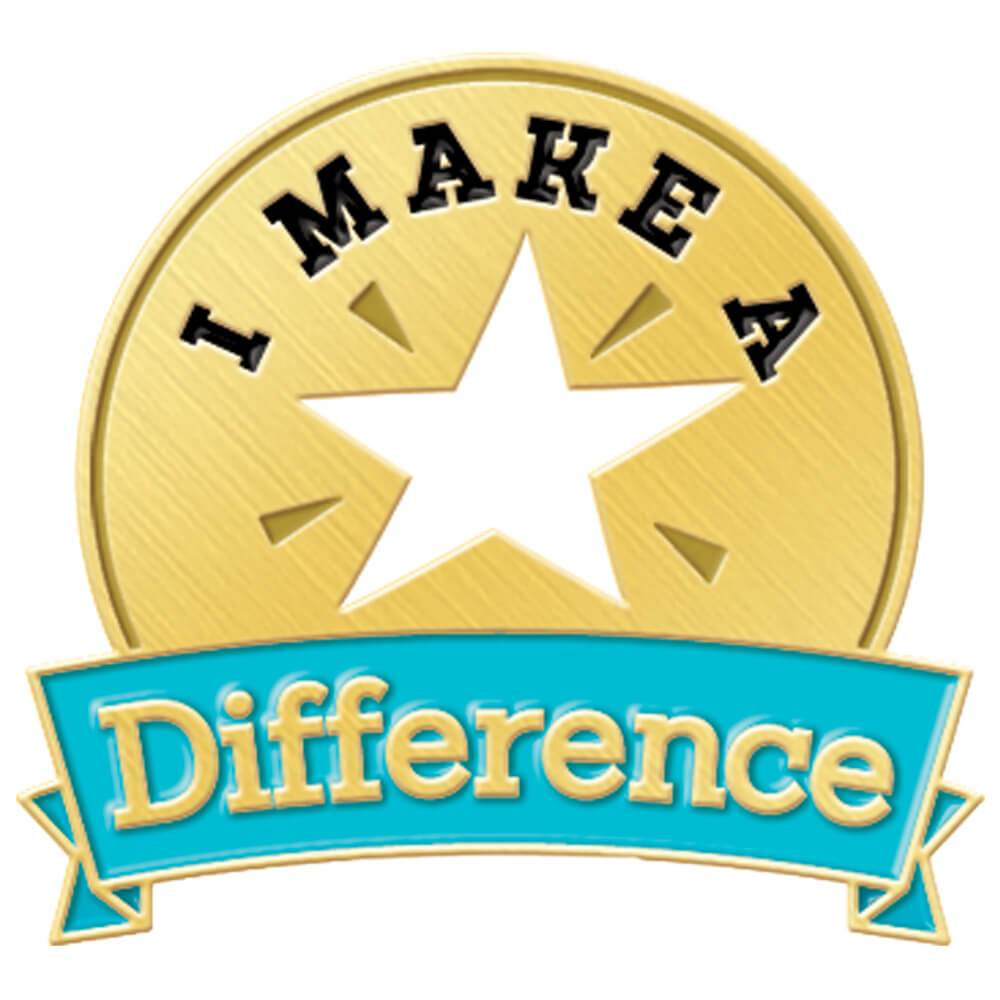 I Make A Difference Lapel Pin with Presentation Card