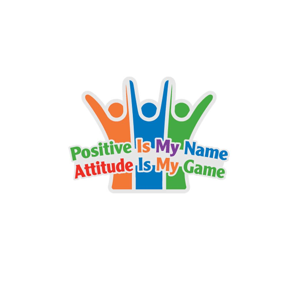 Positive Is My Name, Attitude Is My Game Lapel Pin With Presentation Card